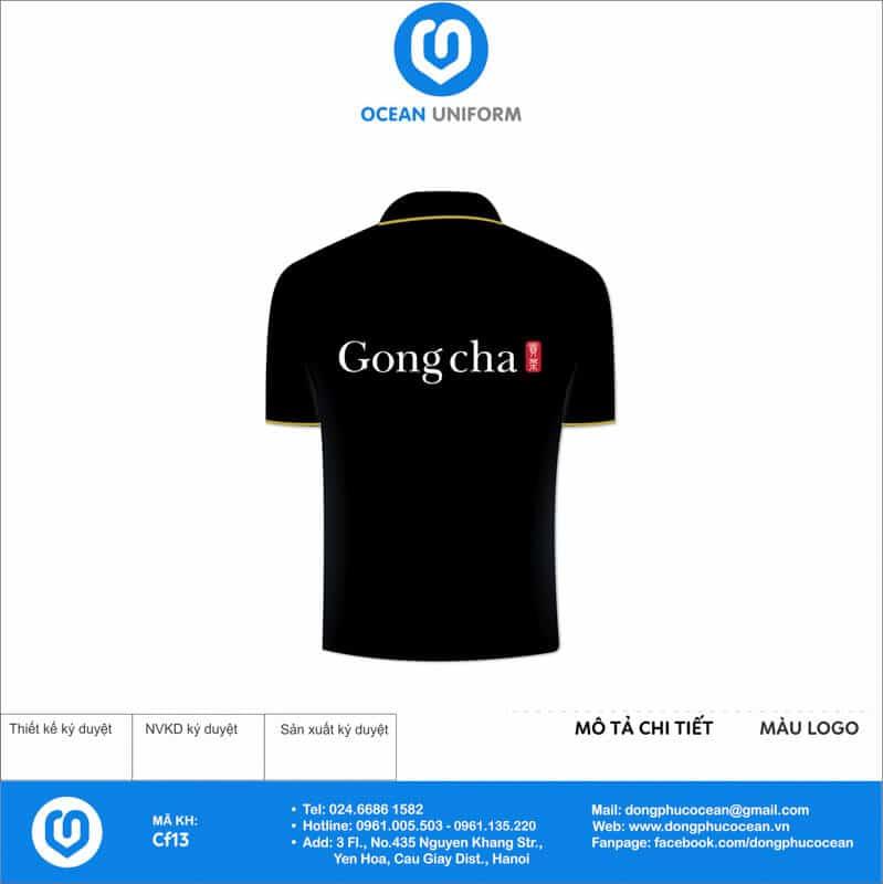 Áo thun đồng phục quán cà phê - Trà sữa Gongcha mặt sau
