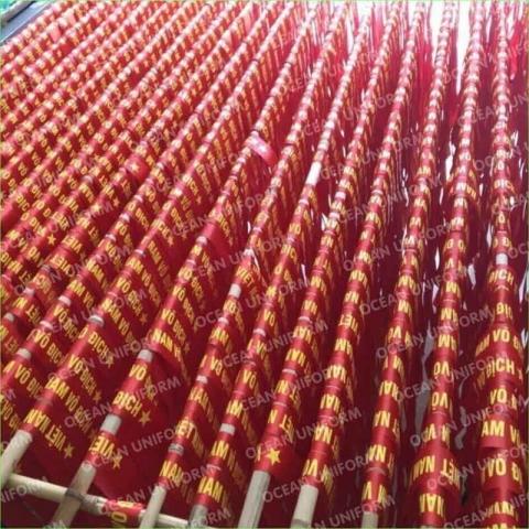 Băng rôn quấn đầu cờ đỏ sao vàng số lượng lớn