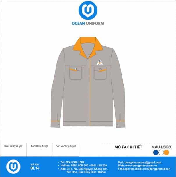 Đồng phục công nhân Công ty CP Đầu tư Xây dựng Tuấn Lộc