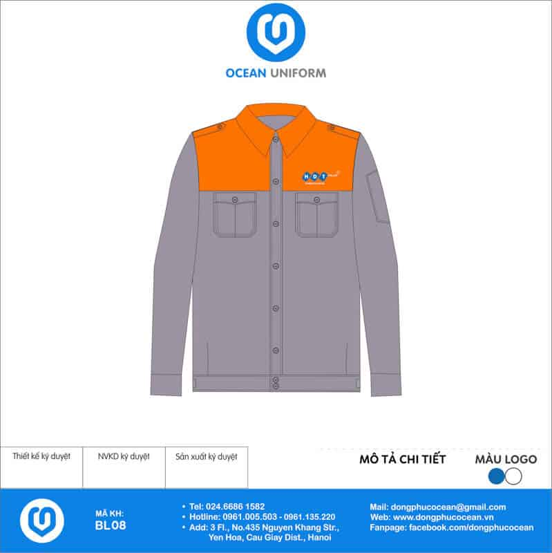 Đồng phục công nhân Công ty HDT