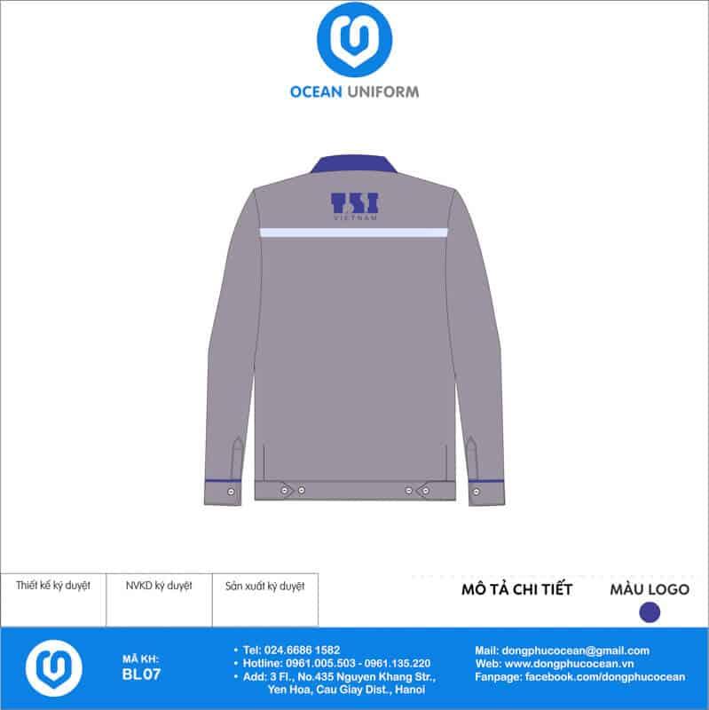 Đồng phục công nhân Công ty TSI Việt Nam mặt sau