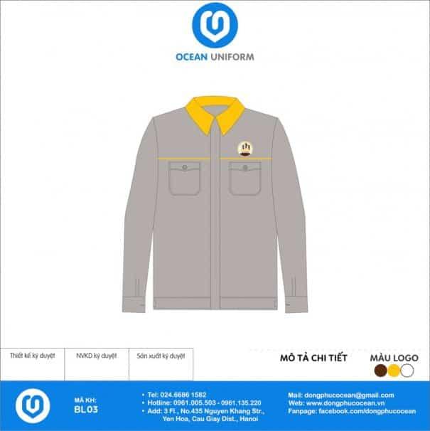 Đồng phục công nhân Công ty Xây dựng Công nghệ cao Việt Nam
