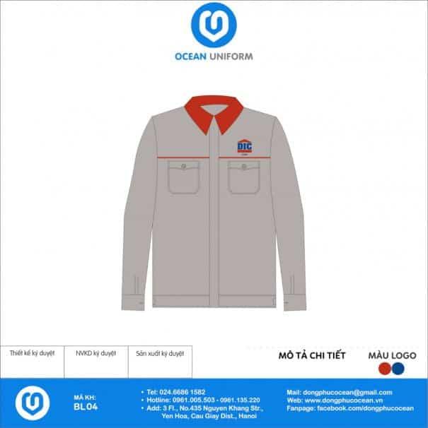 Đồng phục công nhân Công Ty Xây Dựng DIC
