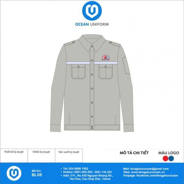 Đồng phục công nhân Công Ty Xây Dựng Nam Việt