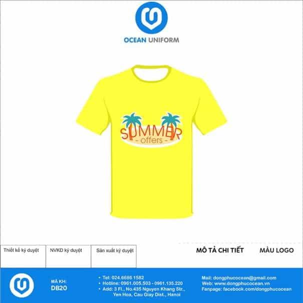 Đồng phục đi biển Summer màu vàng