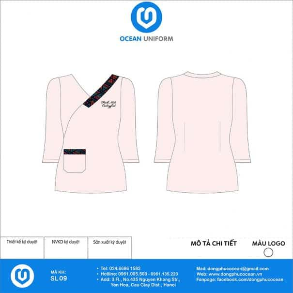 Đồng phục thẩm mỹ viện Fresh Nail mẫu 2