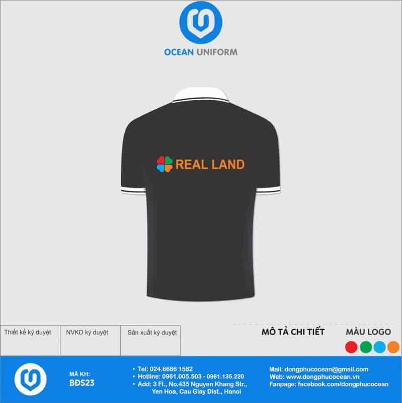 Đồng phục văn phòng công ty bất động sản Real Land mặt sau