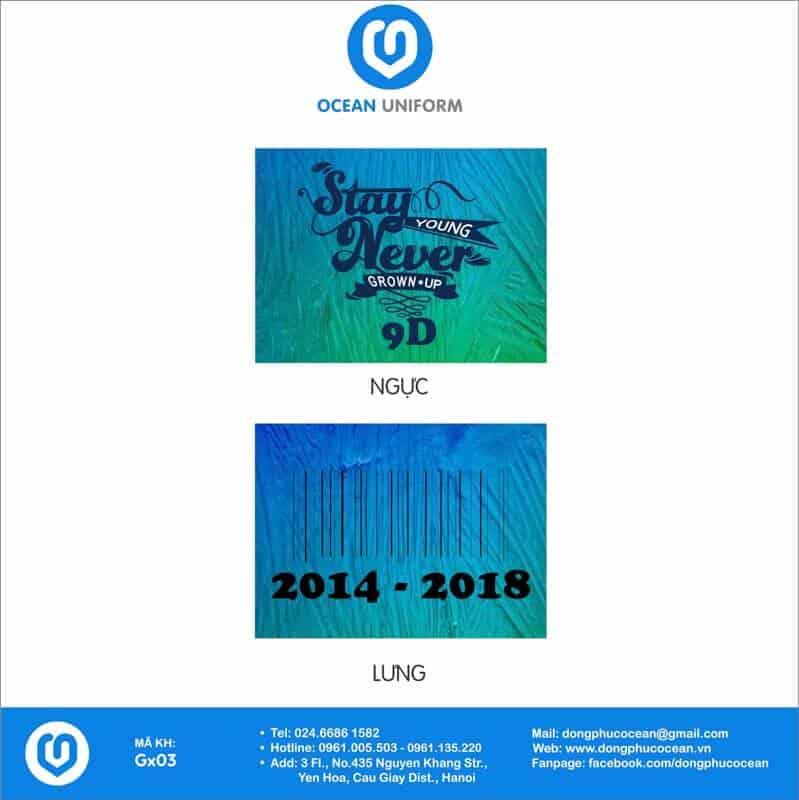 Họa tiết áo lớp 3D Galaxy 9D niên khóa 2014 - 2018
