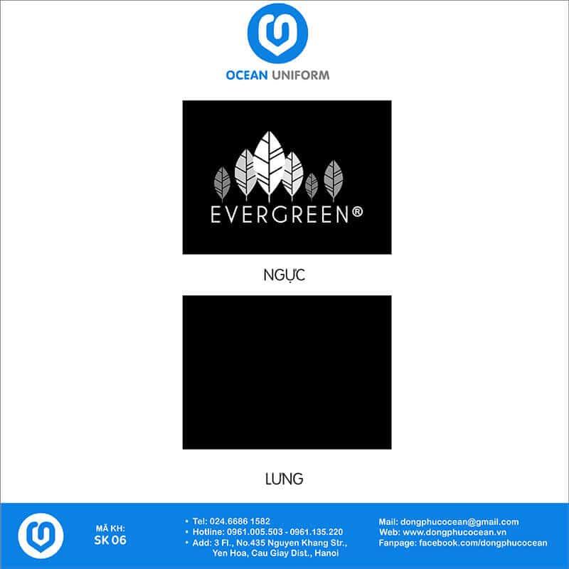 Họa tiết áo phông đồng phục sự kiện Evergreen