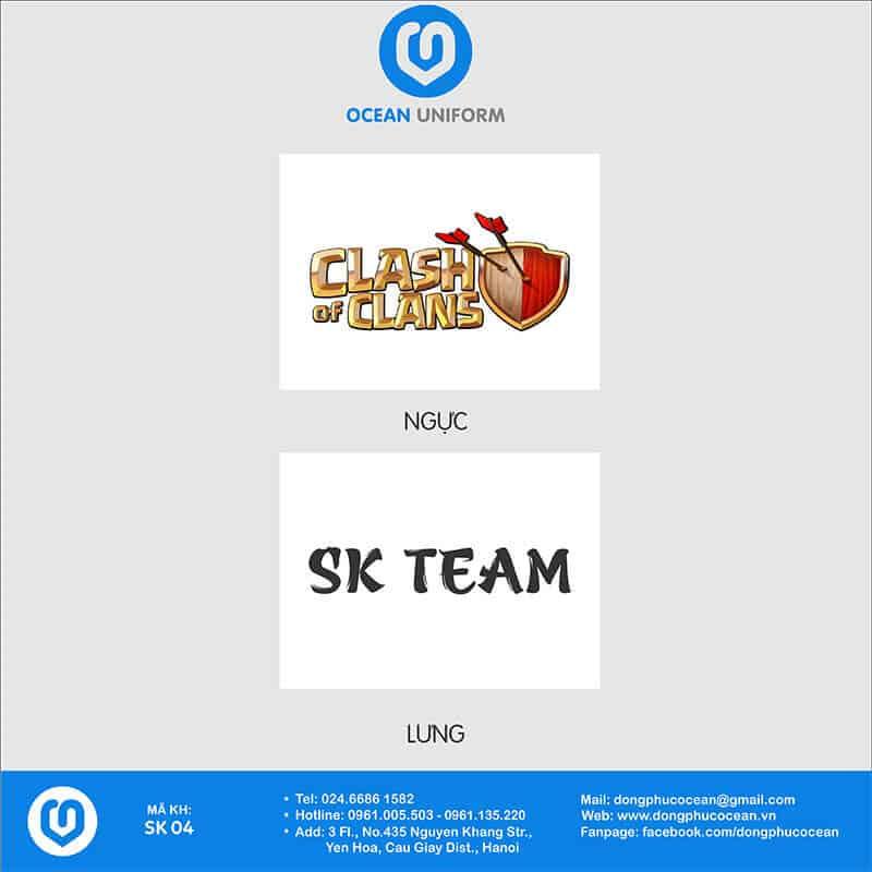 Họa tiết áo phông đồng phục sự kiện SK Team