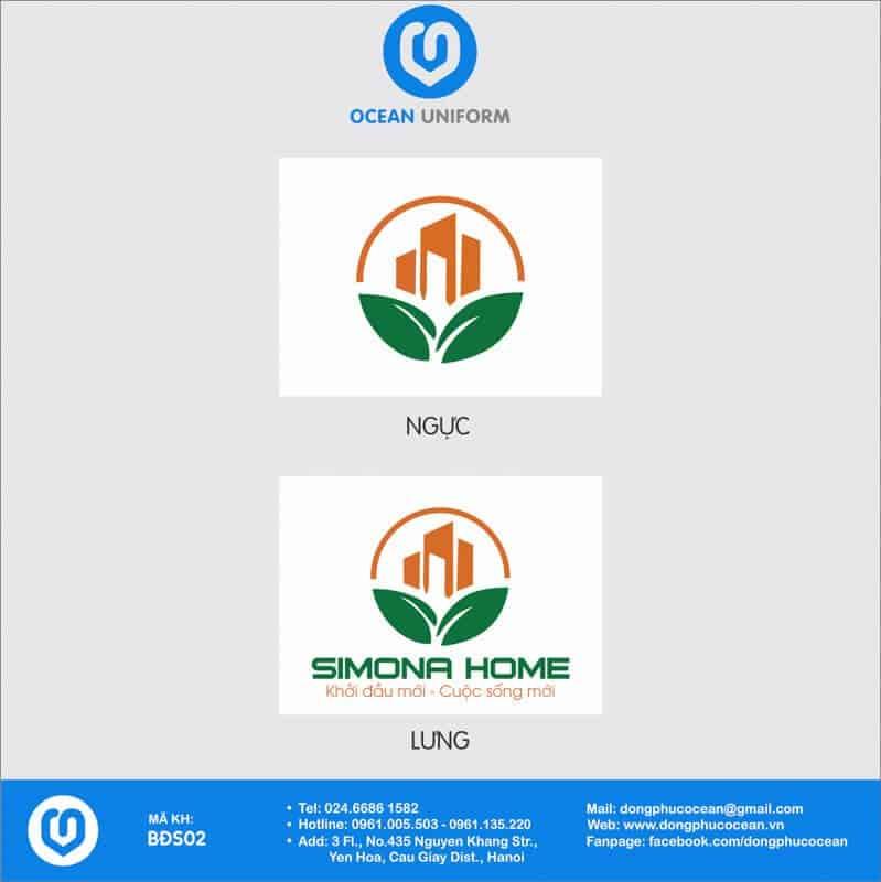 Họa tiết Áo thun công sở Bất động sản Simona Home