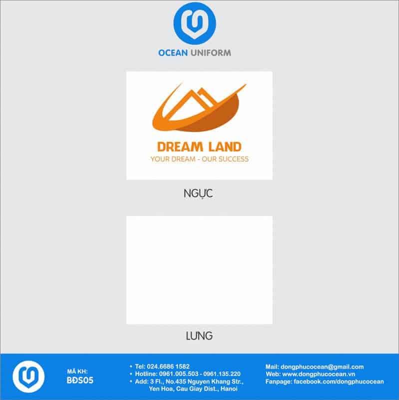 Họa tiết áo thun công sở Công ty TNHH TM và DV Dream Land
