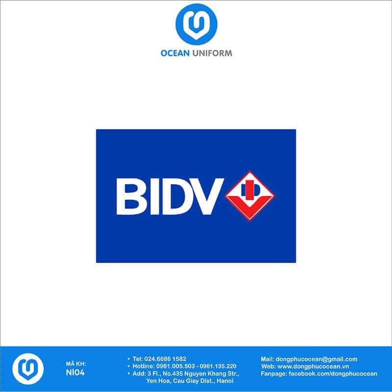 Họa tiết Áo thun đồng phục Ngân hàng BIDV