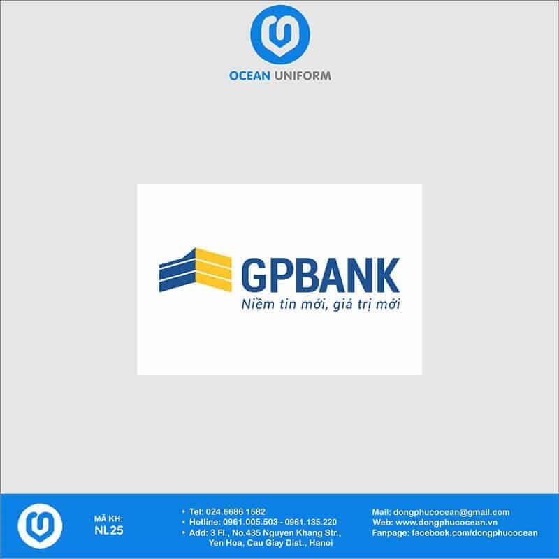 Họa tiết Áo thun đồng phục Ngân hàng GP Bank