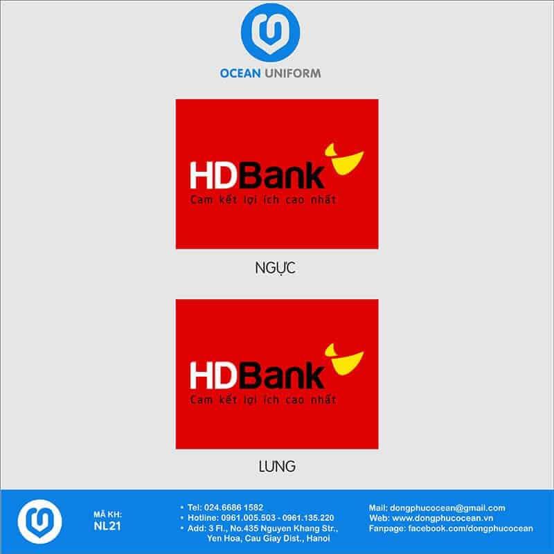 Họa tiết Áo thun đồng phục Ngân hàng HD Bank