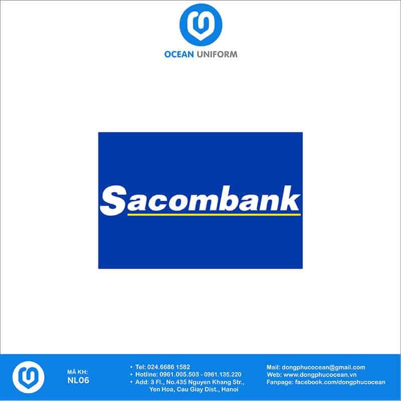 Họa tiết Áo thun đồng phục Ngân hàng Sacombank