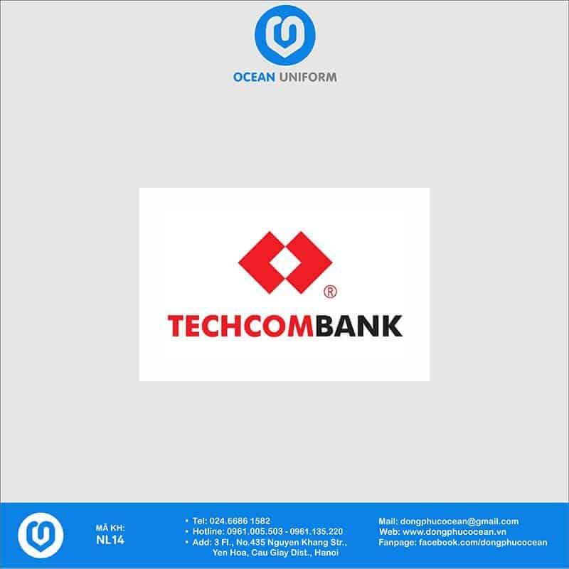 Họa tiết Áo thun đồng phục Ngân hàng Techcombank