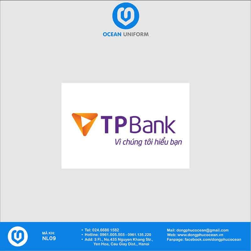 Họa tiết Áo thun đồng phục Ngân hàng TP Bank