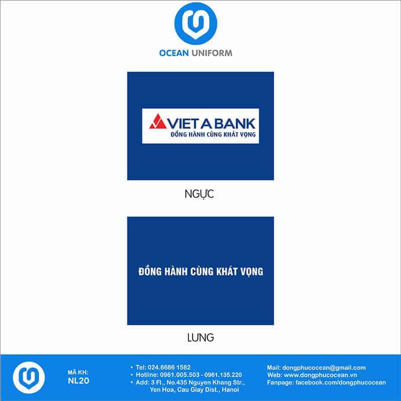 Họa tiết Áo thun đồng phục Ngân hàng Việt Á Bank
