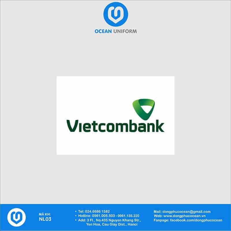 Họa tiết Áo thun đồng phục Ngân hàng Vietcombank