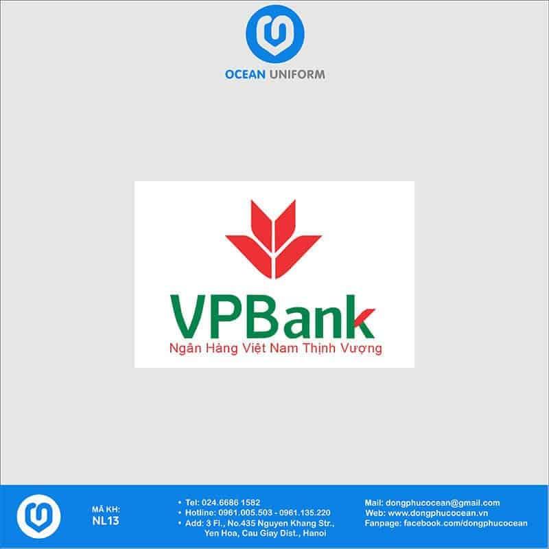 Họa tiết Áo thun đồng phục Ngân hàng VP bank