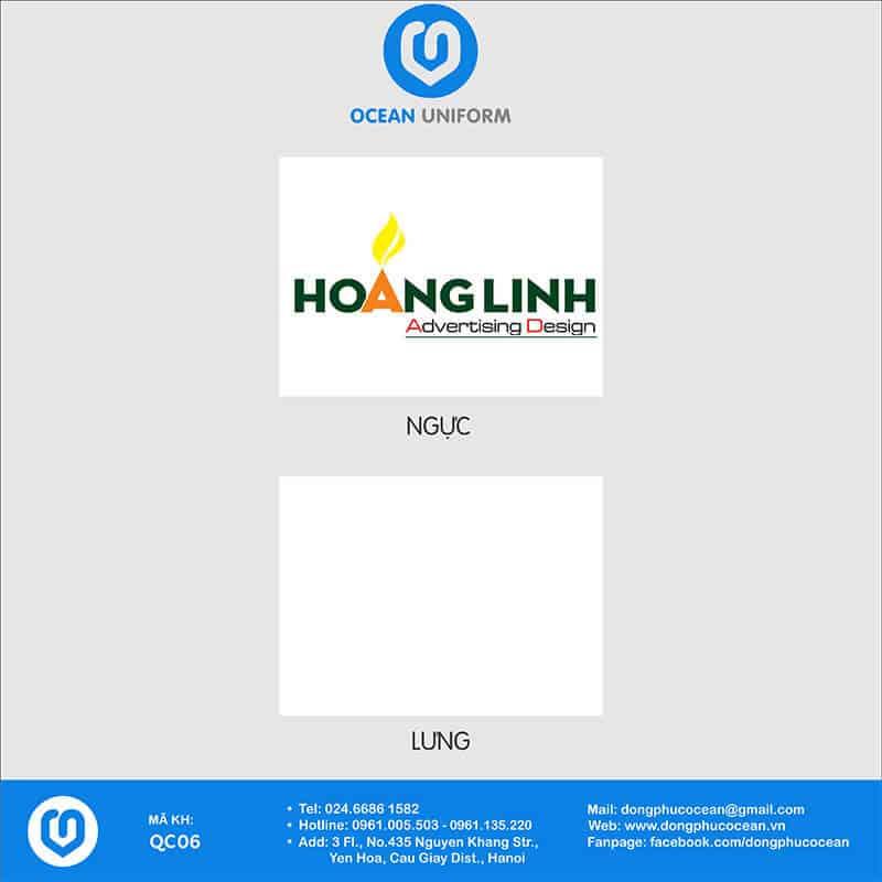 Họa tiết áo thun quảng cáo Hoàng Linh