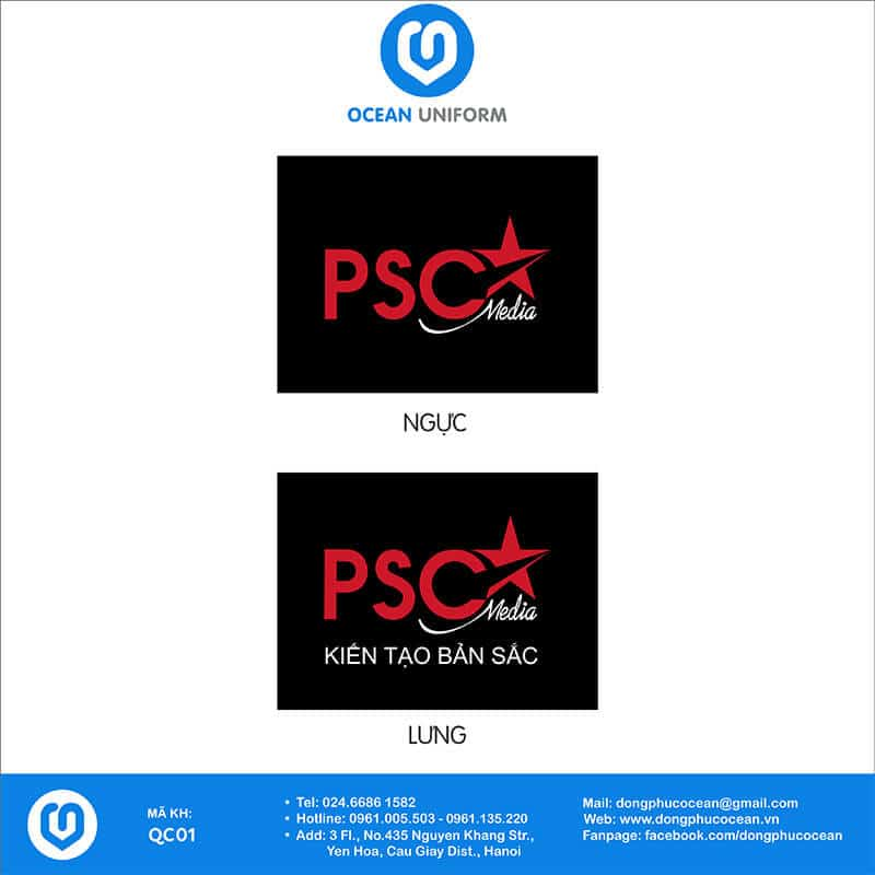 Họa tiết áo thun quảng cáo PSC Media