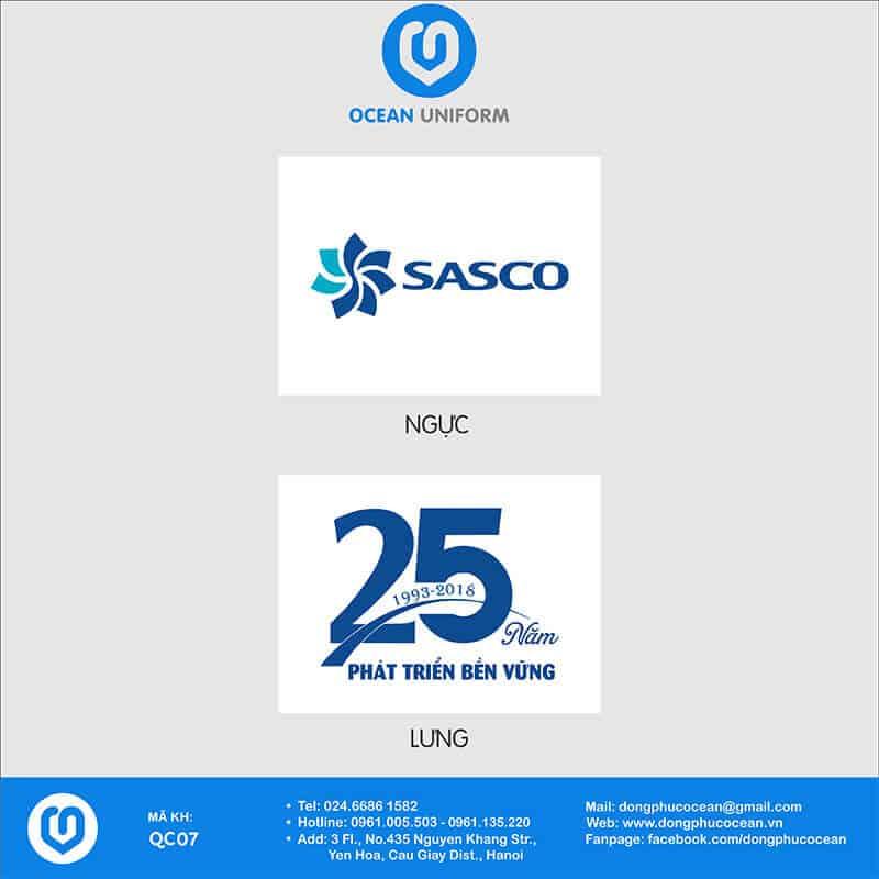 Họa tiết áo thun quảng cáo Sasco