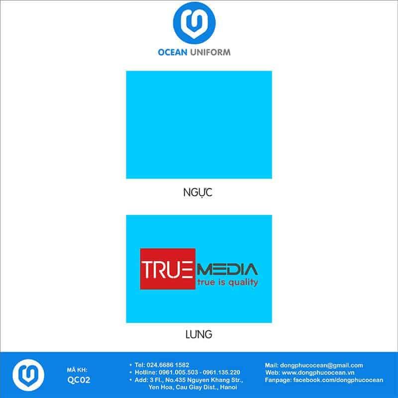 Họa tiết áo thun quảng cáo True Media