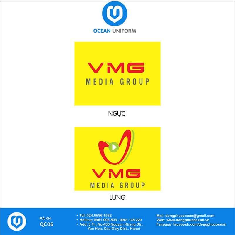 Họa tiết áo thun quảng cáo VMG Media Group
