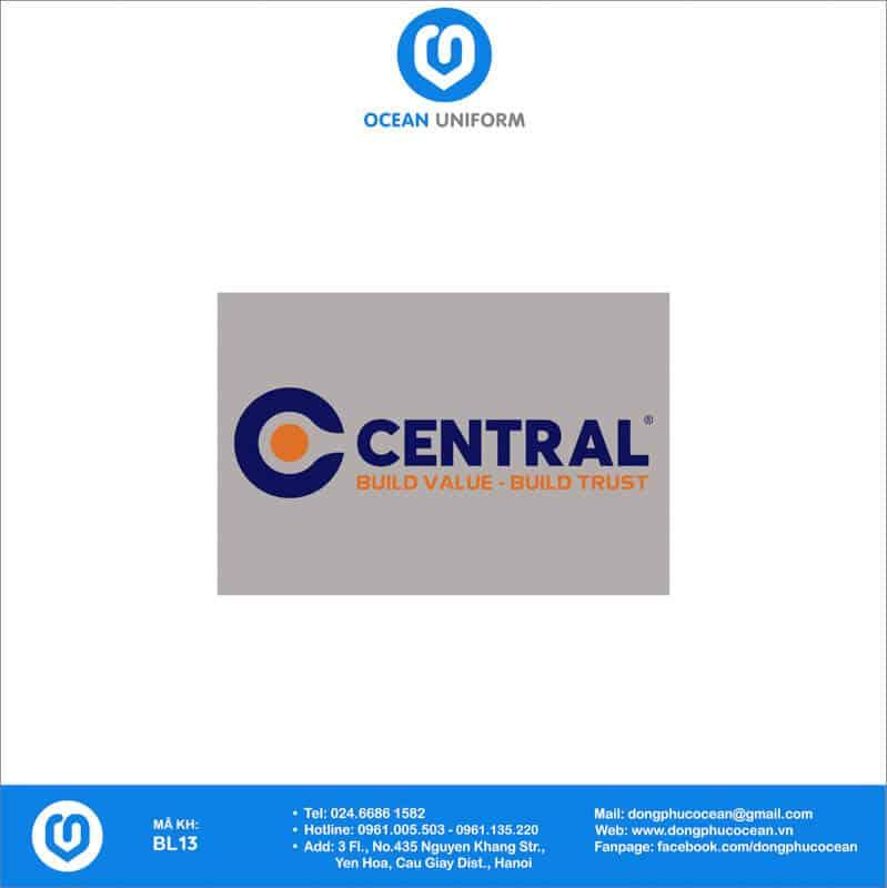 Họa tiết đồng phục công nhân Công Ty CP Xây Dựng Central