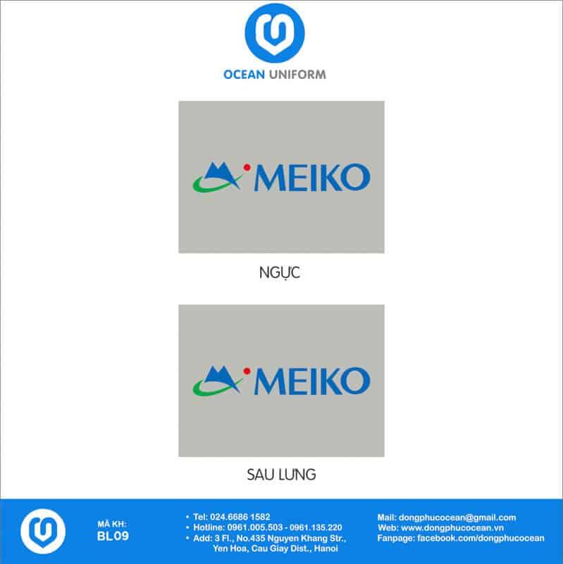 Họa tiết đồng phục công nhân Công ty Điện tử Meiko