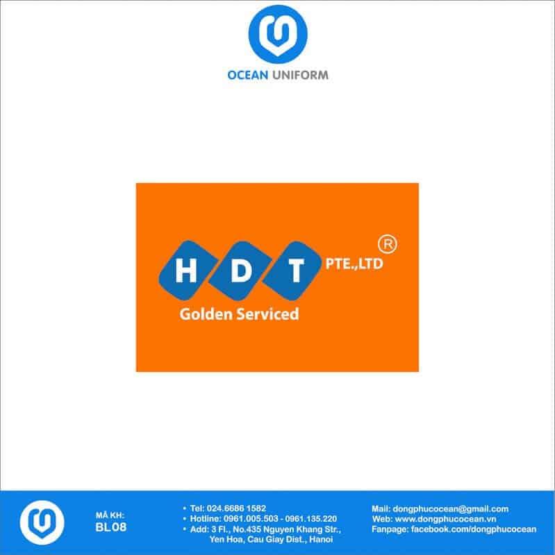 Họa tiết đồng phục công nhân Công ty HDT