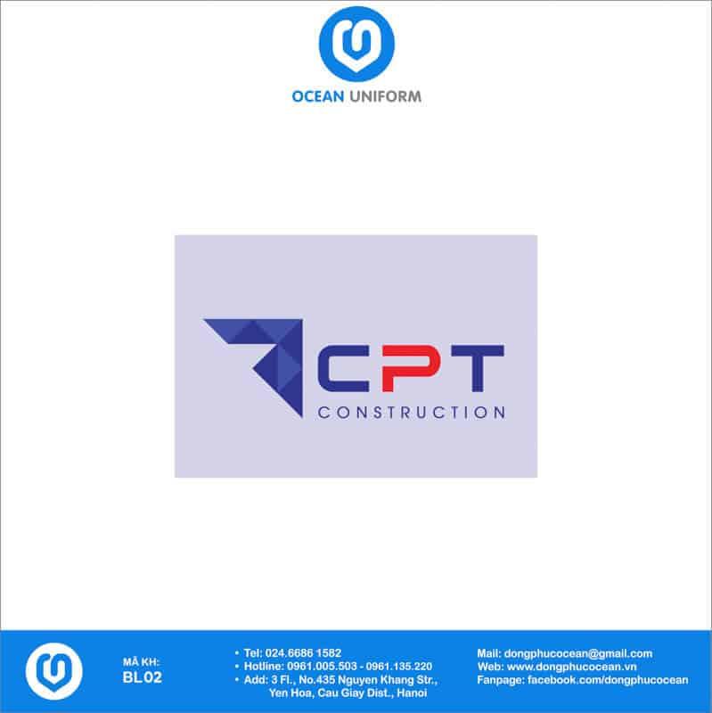 Họa tiết Đồng phục công nhân Công ty xây dựng CPT Việt Nam