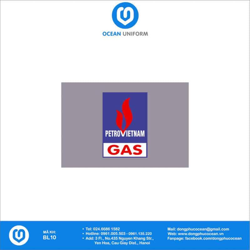 Họa tiết đồng phục công nhân Gas PetroVietNam