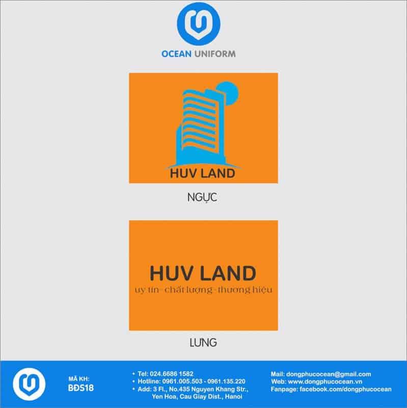 Họa tiết đồng phục văn phòng Công ty Xây dựng HUV Land