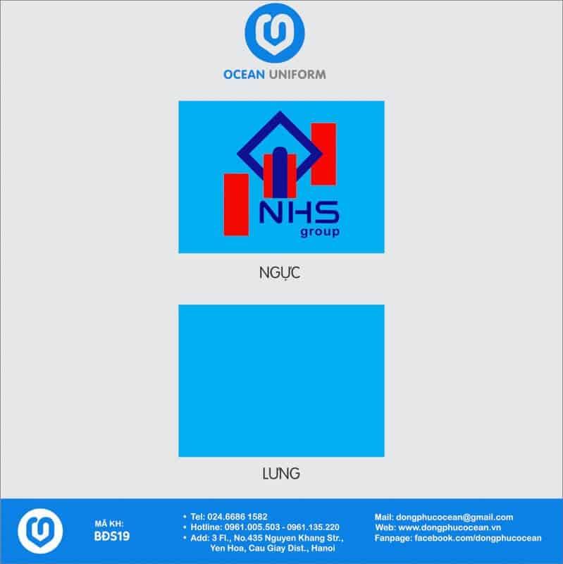 Họa tiết đồng phục văn phòng Công ty Xây dựng NHS