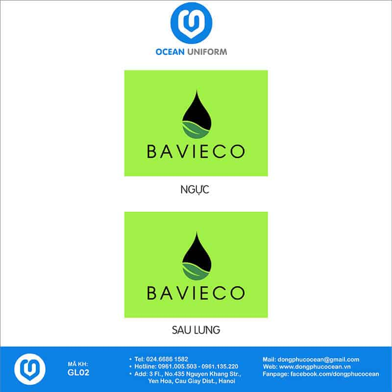 Họa tiết may áo khoác Gile đồng phục Công ty BAVIECO