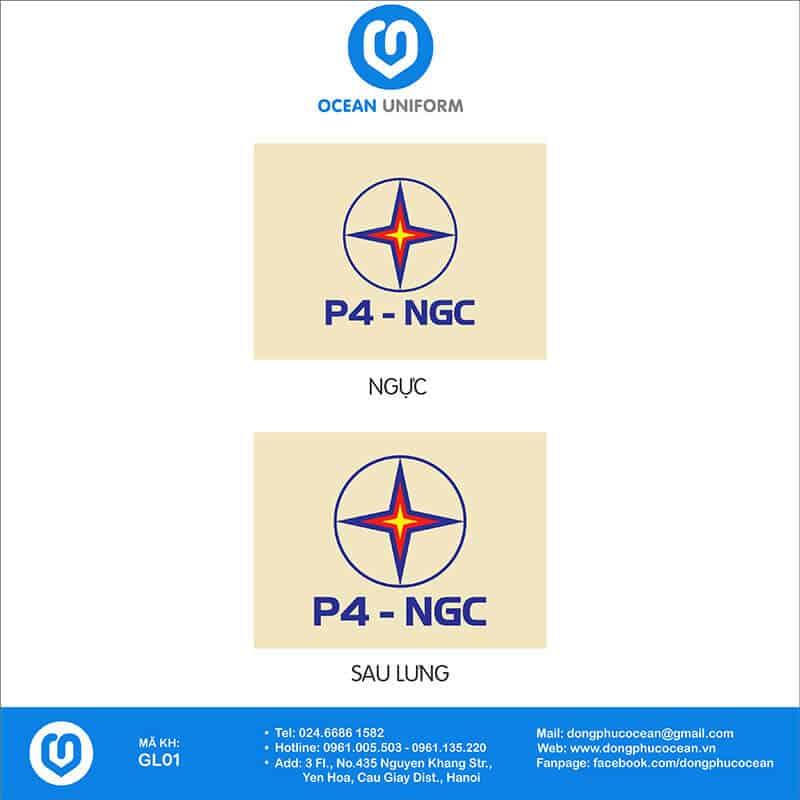 Họa tiết may áo khoác Gile đồng phục Điện Lực P4 - NGC