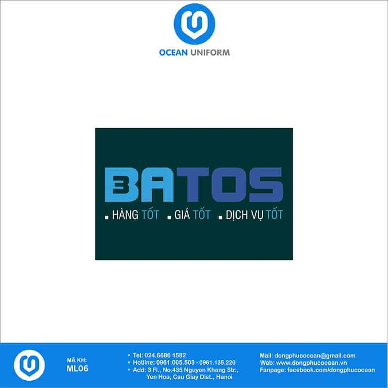Họa tiết mũ đồng phục Công ty BATOS