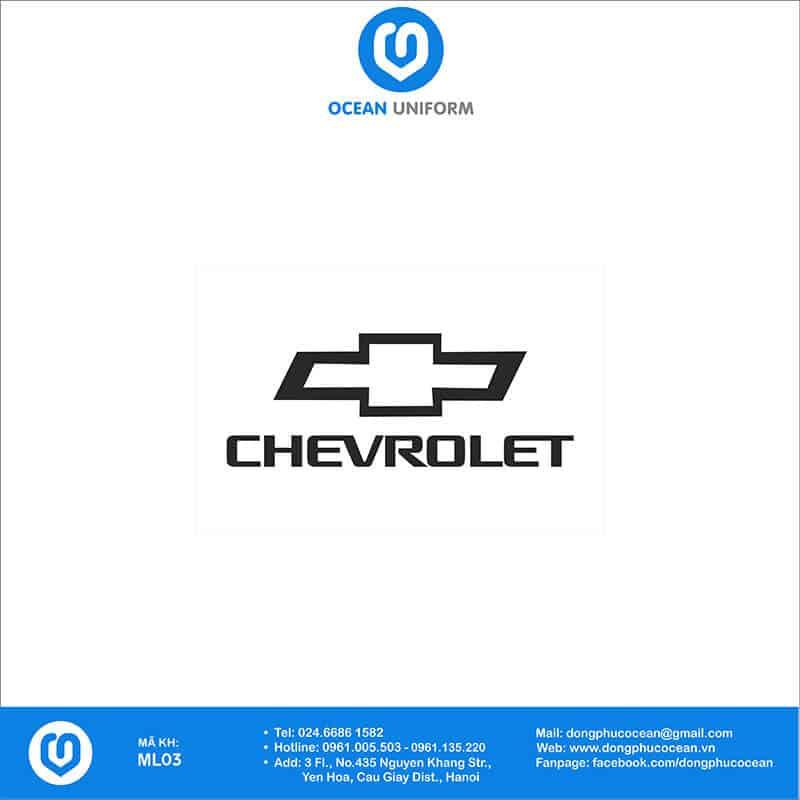 Họa tiết mũ đồng phục Chevrolet
