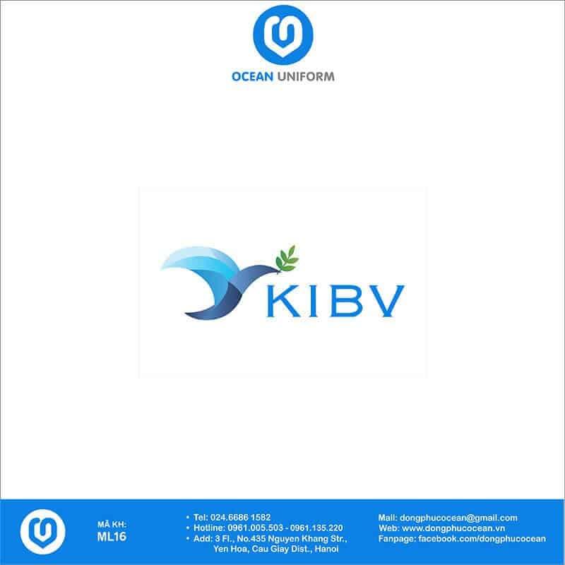 Họa tiết mũ đồng phục Công ty KIBV