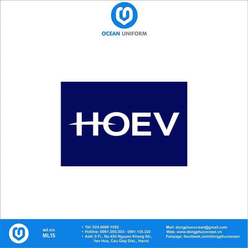 Họa tiết mũ đồng phục Công ty TNHH HOEV