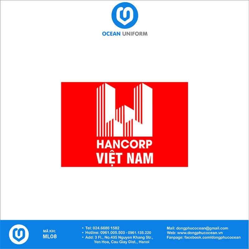 Họa tiết mũ đồng phục HANCORP Việt Nam