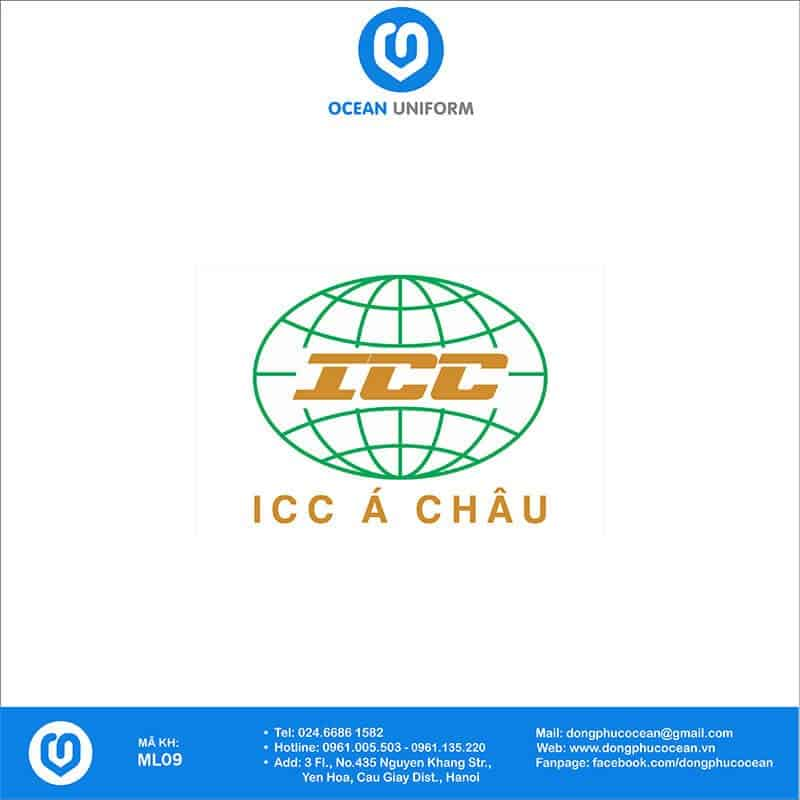 Họa tiết mũ đồng phục ICC Á Châu