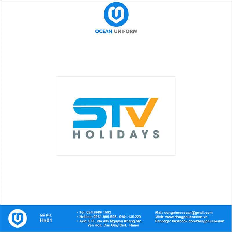 Họa tiết mũ đồng phục STV Holidays