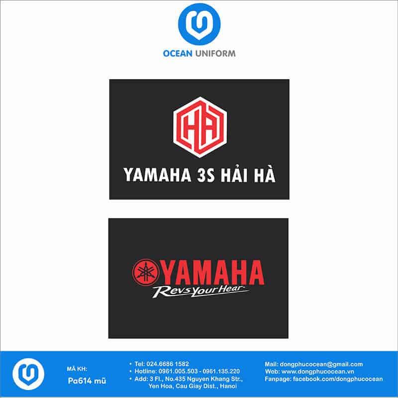 Họa tiết mũ đồng phục Yamaha 3S Hải Hà