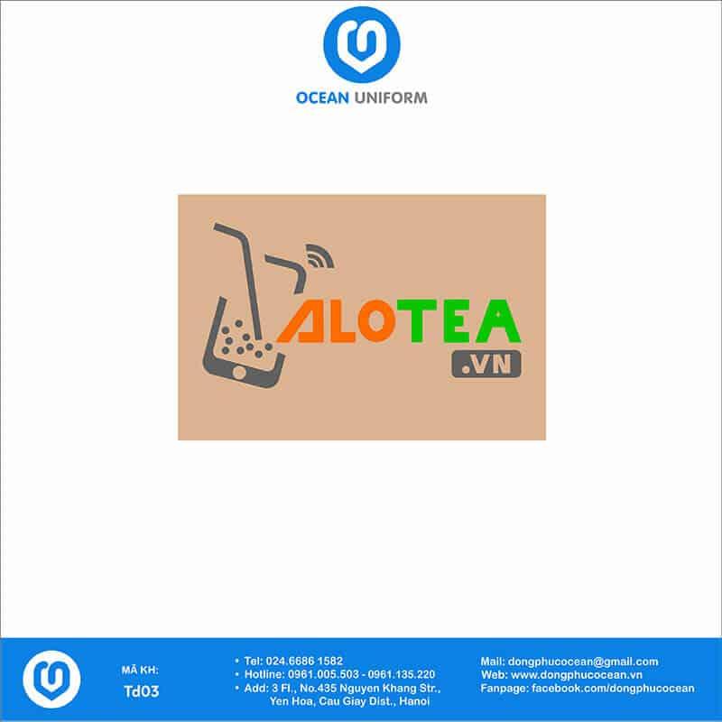 Họa tiết tạp dề đồng phục Alo Tea