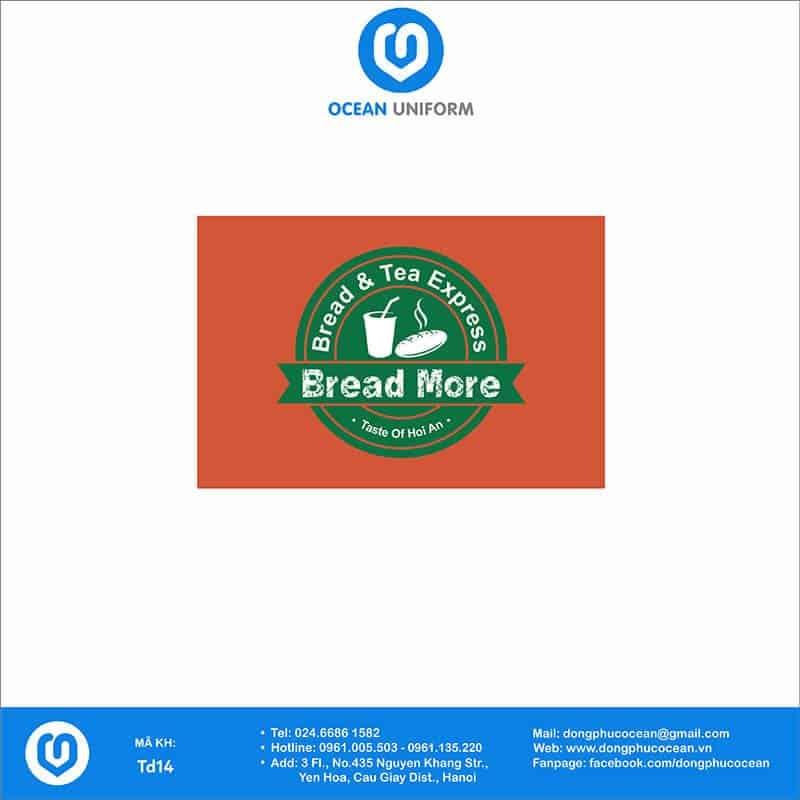 Họa tiết tạp dề đồng phục Bread More