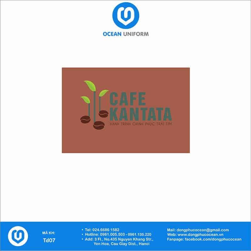 Họa tiết tạp dề đồng phục Cafe KANTATA